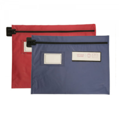 Mailing Pouch - Flat Style - Long Edge Zip - 406mm x 305mm - Round or Arrow Seal - variable colour options