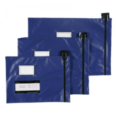 Flat Mailing Pouches - Short Edge Zip - 355mm X 470mm - Round or Arrow Seal - Variable colour options