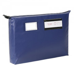 Gussetted Mailing Pouches - Long Edge Zip - Heavyweight - 420mm X 340mm X 80mm - Round or Arrow Seal - Variable colour options