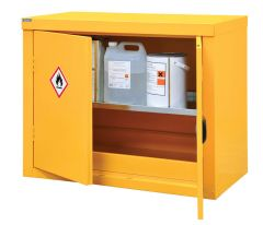Yellow Hazardous Floor Cupboard Various Sizes Available