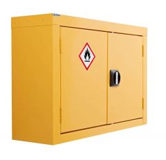 Yellow Hazardous Wall Cupboard 570mm x 850mm x 255mm
