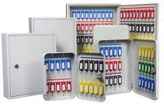 Secure Fixed Hook Key Cabinet - Various Key Capacities