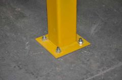 End Post Lift Out Twin Rail Barrier 1100mm x 80mm x 80mm