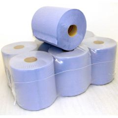Paper 2 Ply Blue Roll (Pack Of 6)