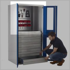 Dual Panel Tool Louvre for Multi-Storage Cupboard