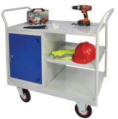 Cupboard & Side Shelf Trolley (Steel) 1050mm x 900mm or 1200mm x 600mm