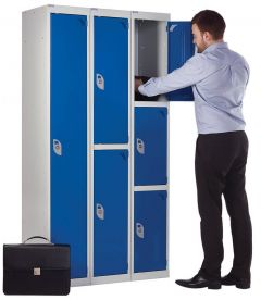 3 Compartment Secure Locker 1800mm x 300mm x 450mm