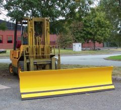 Fork Mounted Sprung Snow Plough 2130mm Wide