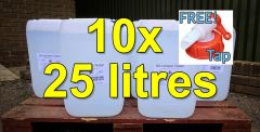 Deionised Water - 25 litres x 10 (250 litres)