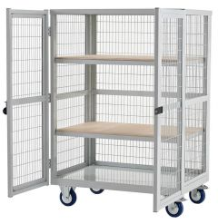Plywood Boxwell Mobile Shelving Storage (with Doors)