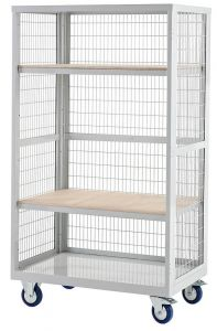 Plywood Boxwell Mobile Shelving Storage (Open, No Doors)