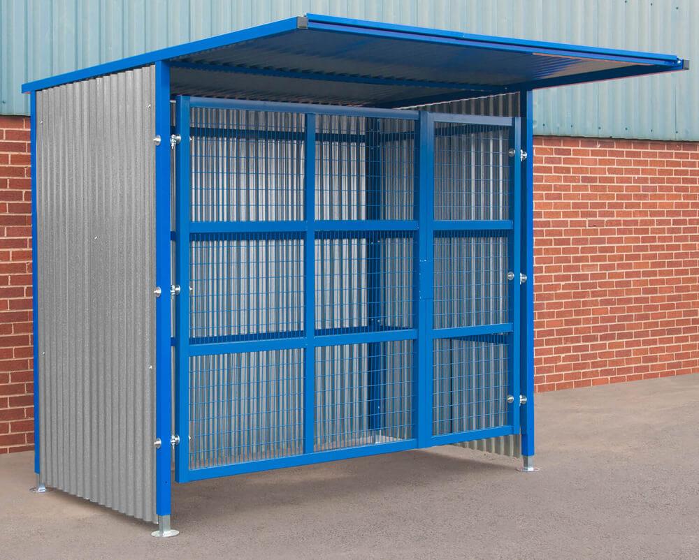 Double Gated Mesh Infill Door Storage 2100mm x 25000mm x 1900mm