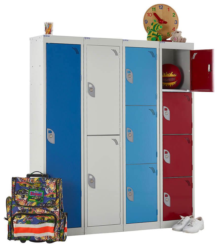 1, 2 3 & 4 Compartment School Locker 380mm depth x 1365mm x 300mm