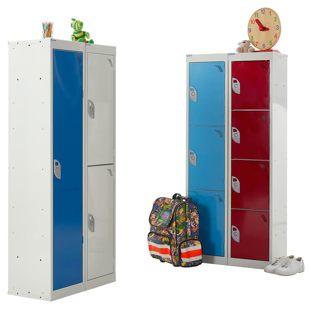 1, 2, 3 & 4 Compartment School Locker 300mm depth x 1365mm x 300mm