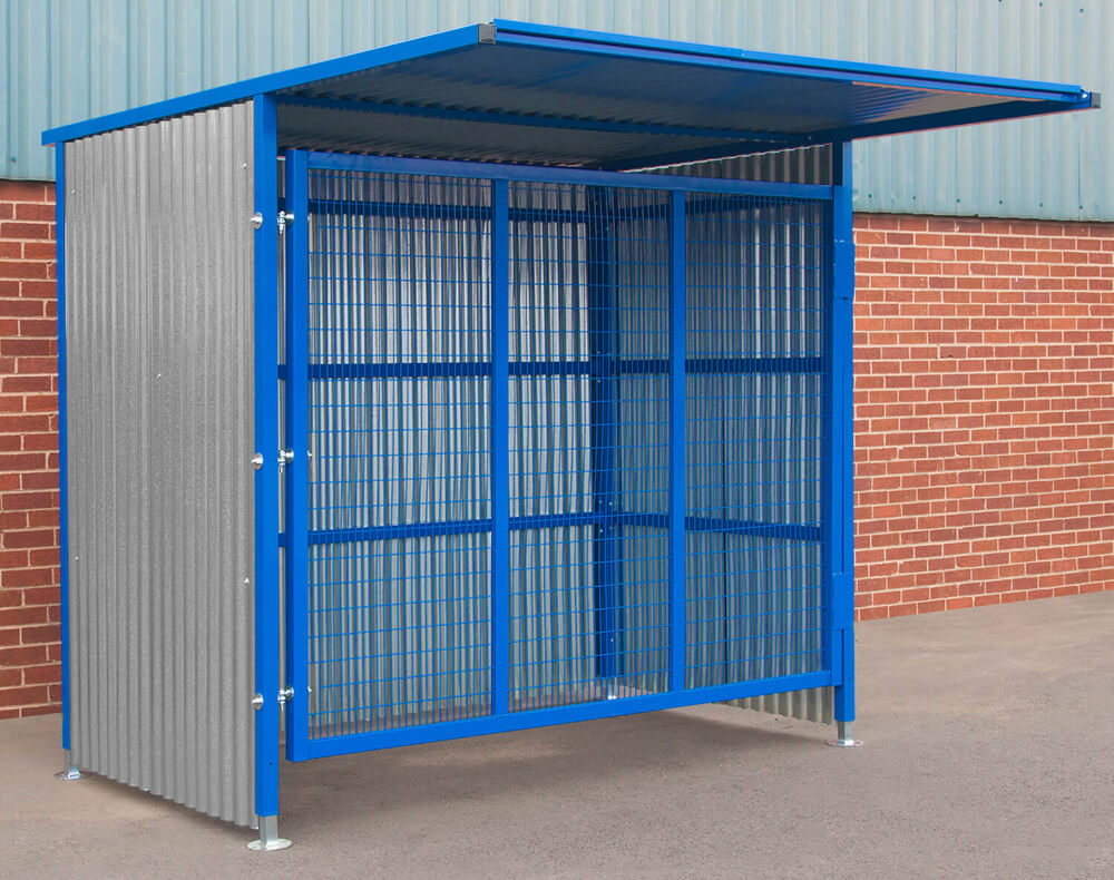Single Gated Mesh Infill Door Storage 2100mm x 25000mm x 1900mm