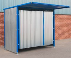 Double Gated Galvanised Panel Fronted Storage 2100mm x 25000mm x 1900mm