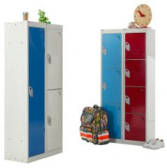 1, 2, 3 & 4 Compartment School Locker 300mm depth x 1365mm x 300mm