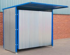 Single Gated Galvanised Panel Fronted Storage 2100mm x 25000mm x 1900mm