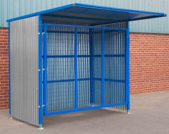 Single Gated Mesh Infill Door Storage 2100mm x 25000mm x 1900mm
