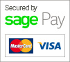 Secured by SagePay - Mastercard and Visa
